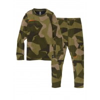 Bielizna Termoaktywna Juniorska Burton Fleece Base Layer Set (Three Crowns Camo)