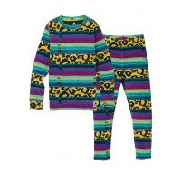 Bielizna Termoaktywna Juniorska Burton Fleece Base Layer Set (Leopardy Cat)