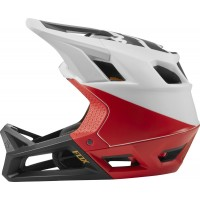 Fox Kask Rowerowy proframe pistol white/black/red