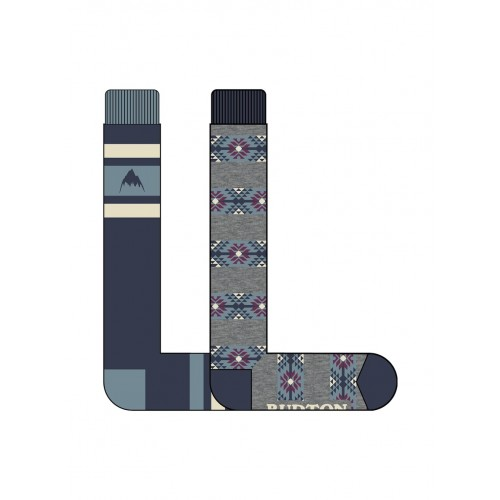 Skarpety Snowboardowe Damskie Burton Weekend 2 Pack (Mood Indigo)