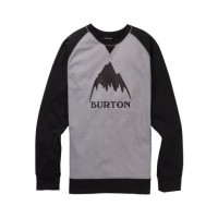 Bluza Męska Burton Crown Bonded Crew (Gray Heather True Black)