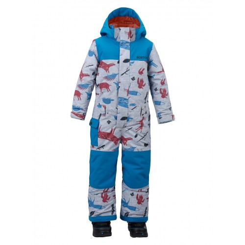 Kombinezon Snowboardowy Dziecięcy Burton Minishred Striker One Piece (Big Bad Wolf / Mountaineer)