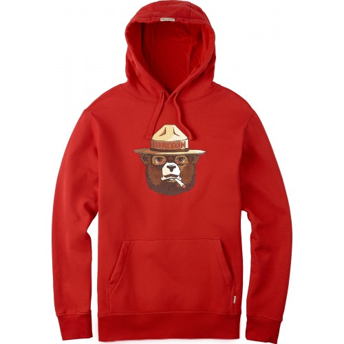 Bluza męska Burton Bearly Legal Pullover Hoodie (fiery red)