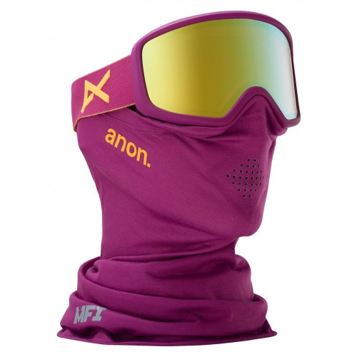 Gogle Snowboardowe Damskie Anon Deringer MFI (Purple / Gold Chrome)