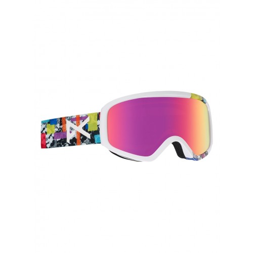 Gogle Snowboardowe Damskie Anon Insight (Bouquet / Pink Solex)