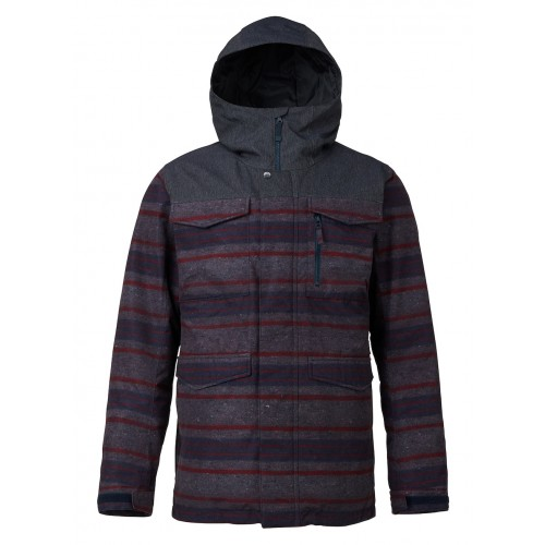Kurtka Snowboardowa Męska Burton Covert (Denim / Faded Motor City Print)