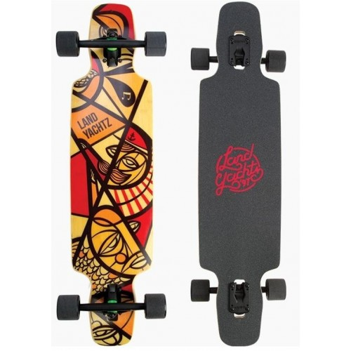 longboard landyachtz drop carve 37 red nautical