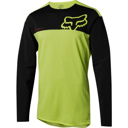 Koszulka Rowerowa Long Sleeves Męska Jersey Fox Attack Pro (Yellow / Black)