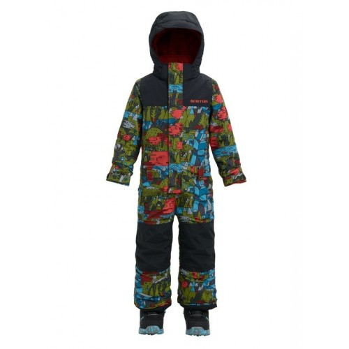 Kombinezon Snowboardowy Dziecięcy Burton Striker One Piece (Neverending Story / True Black)